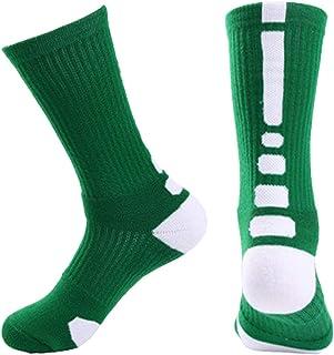 Calcetines Deportivos para Hombre, para Ciclismo, Calcetines de Bicicleta, Transpirables y Acolchados