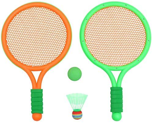 RENFEIYUAN 1 Paar Badminton Schläger für Kinder Indoor Outdoor Sport Spiel Racquet Spiel Spiel Strand Spielzeug (orange) Badminton Sets