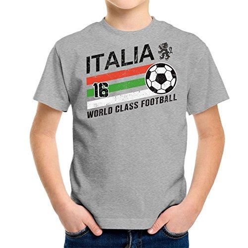 Euro 2016 Football Italy Italia Ball Grey Kid's T-Shirt