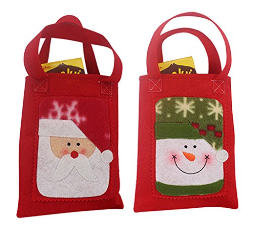 Bigood Grand Sac Bonbons de Fête 2pcs Motif Cateau Paquet Décoration de Noël