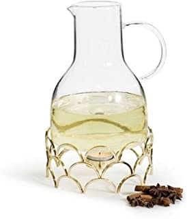 Sagaform Winter Mulled Wine Jug with Warmer Gold Coloured - 5017678