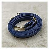 Shop-PEJ 1 unids Mujeres PU Crossbody Bolsa de Hombro Mango Correa Damas DIY DIY Color Sólido Bolsa Bolsa Beleves Botón de Metal Correa Accesorios para Mujer Bolso/Monedero (Color : Blue)