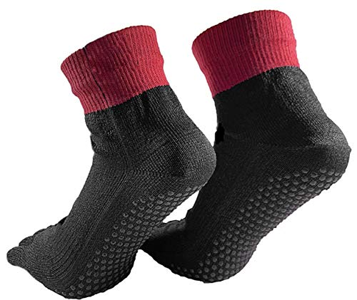 ZYLL Unzerstörbare rutschfeste Socken, schnittfeste Socken Resistente Zehensocken Barfußsocken rutschfeste Yoga-Strümpfe Wandern Laufen Klettern Strandfußsocken,B