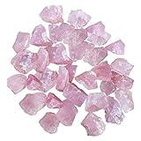 DIYARTS Cristallo Rosa Naturale Frantumato Pietra Smussatura Pietra Cluster Diffusore di Aromi Cristallo Cluste per Acquario Decorazione Lampada di Cristallo