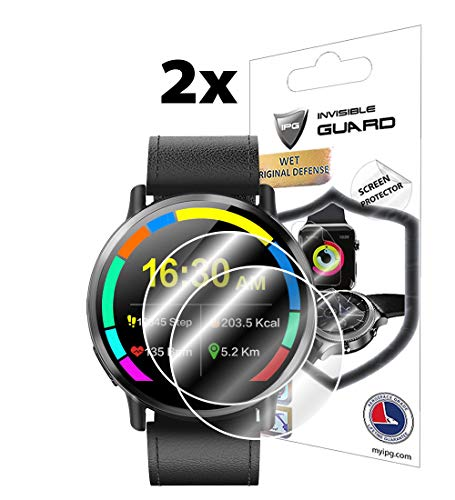 for LEMFO LEMX SmartWatch Screen Protector (2 Units) Invisible Ultra HD Clear Film Anti Scratch Skin Guard - Smooth/Self-Healing/Bubble -Free by IPG