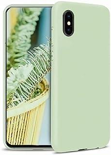 CRABOT Compatible con iPhone X/XS Funda Silicona Líquida Parachoques de Goma de Gel Delgado A Prueba de Choques Protector ...