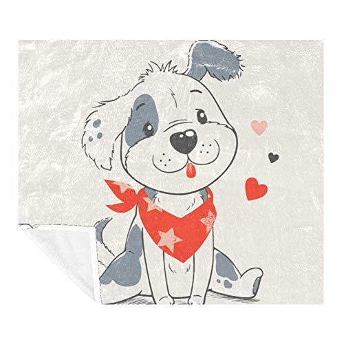 AMEILI Manta de tamaño – para todas las estaciones, ligera y afelpada hipoalergénica – mantas de microfibra para cama, sofá o viaje (60 x 80 pulgadas), diseño de perro de dibujos animados (2)
