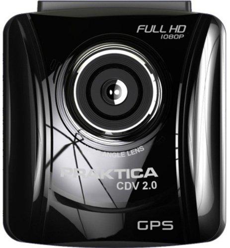 Praktica CDV 2.0 Auto Videokamera (3 Megapixel, 1080p, 6 cm (2,4 Zoll) TFT-Farbmonitor, HDMI) mit Kfz-Adapter