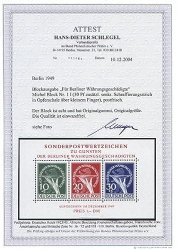 Goldhahn Berlin Block 1 I postfrisch  mit Fotoattest Schlegel Briefmarken für Sammler