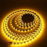 Grandview 16.4ft/5m LED Light Strips 300 SMD Units 5050 LEDs Lighting Strips 12V Flexible Waterproof LED Strip Rope Party Concert Landscape Auto Under Cabinets Lights Festivals-Yellow