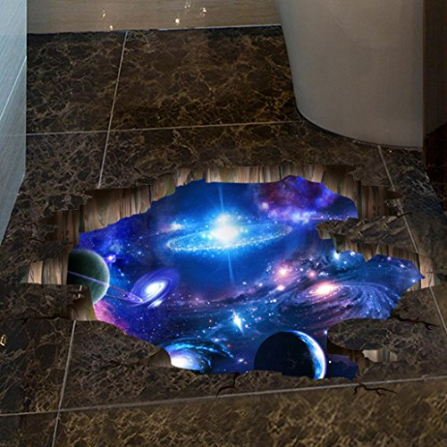 12shage Wandaufkleber Wandtattoo Wandsticker, 3D Brücken Boden Wand Aufkleber-entfernbarer Fußboden Aufkleber (D)