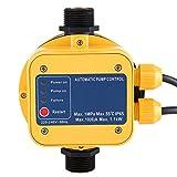 IP65 220 V controlador de presión bomba de agua presostato automático electrónico controlador de presión con Gauge casa accesorio Apto para todo tipo de bombas
