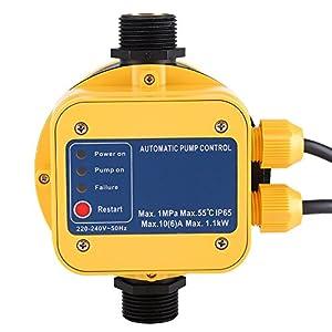 IP65 220 V controlador de presión bomba de agua presostato automático electrónico controlador de presión con Gauge casa…