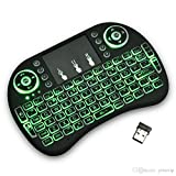 Backlit Wireless Mini Keyboard Air Mouse Touchpad for Samsung LG Smart TV Android Kodi TV Box, PC, Mac with Backlight - by Mega1Comp