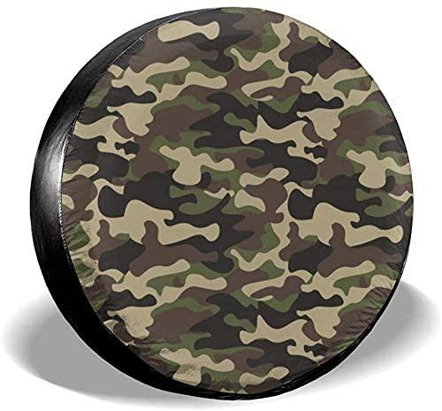 Lewiuzr La Cubierta Impermeable del neumático de Repuesto del Camuflaje Militar Abstracto del Camuflaje se Adapta al Ajuste Universal