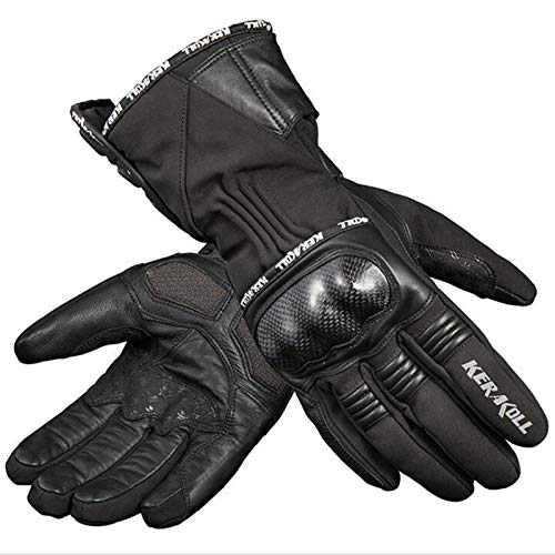 YUMO 2021 Motorbike Gloves Mens Protection Motorcycle Leathers Full Finger All Season,Black,XL