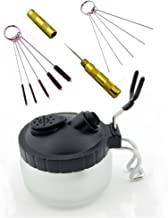 4 Set Airbrush Spray Gun Wash Cleaning Tools Needle Nozzle Brush Glass Cleaning Pot Holder