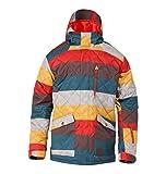 DC Men's Forest Snow Jacket, Linen Stripes, Large