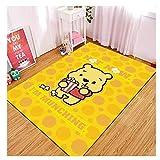 maishi Rug Carpets Square Children'S Bedroom Living Room Play Floor Mat Hallway Area Kitchen Bath Nursery Home Decor Cartoon Pooh Pattern Baby Crawl