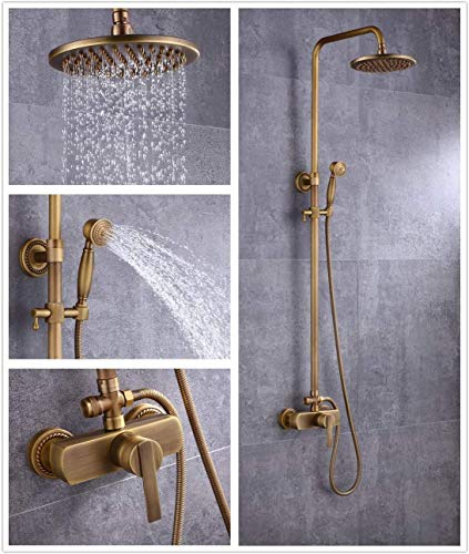 Solepearl Colonne de Douche Laiton Antique Ensemble de...