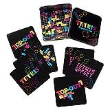 Juego de posavasos Tetris, 10 unidades, con caja de almacenamiento de lata, producto oficial 77085