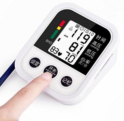 Medidor de presión electrónico de estilo de brazo completamente automático Detector de latido cardíaco irregular para padres / adultos / familia, conexión USB