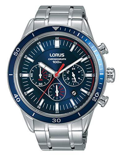 Lorus Sport Herren-Uhr Chronograph Edelstahl mit Metallband RT303HX9
