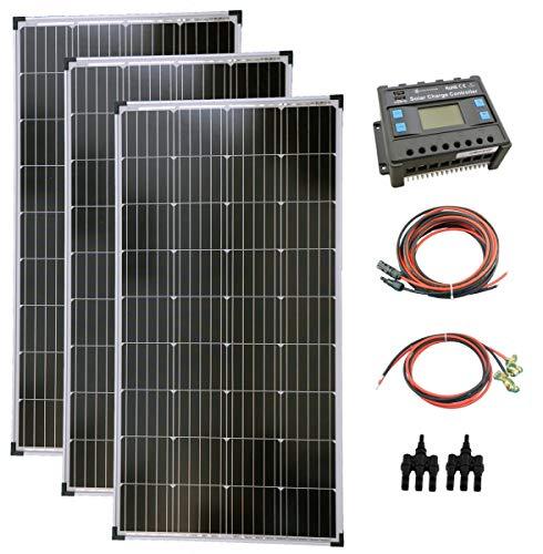 solartronics Komplettset 3x130 Watt Solarmodul Laderegler Photovoltaik Inselanlage