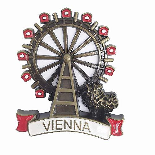 MUYU Magnet Imán de Metal 3D para Nevera, diseño de Viena y Austria