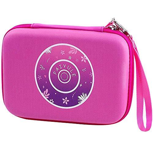 PAIYULE Tasche kompatibel für Vtech Kidizoom Duo DX Kinderkamera/80-163554/ Duo 5.0/ Vtech 80-193634/ VTech 80-163504/ Pix-Kamera mit Riemen - Pink (nur Tasche)