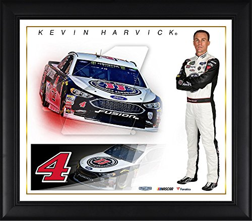 Kevin Harvick NASCAR Auto Racing Double Matted 8x10 Photograph Collage