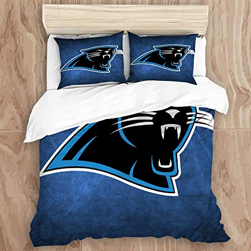 NorgreeBO Duvet Cover Set,Rugby Team Car-o-lina Pant-Hers (30) Decorative 3 Piece Bedding Set with 2 Pillow Shams, Twin Size