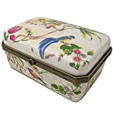 Better & Best Caja Rectangular con Dibujo de Pájaros y Flores, Cerámica, Multicolor, 13 x 8,5 x...