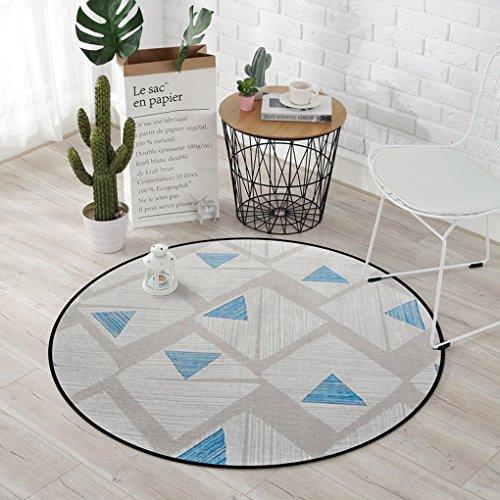Good thing tapis Tapis, Tapis motifs géométriques tapis tapis rond, coussins pour enfants salle d'ordinateurs Chaises tapis de sol, salon chambre panier tapis rond (taille : Diameter 150CM)