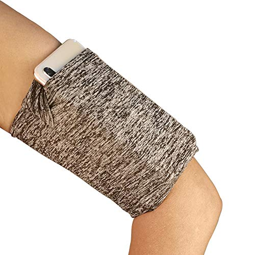 Running Armband Sleeve Comfort Phone Arm Holder with One Pocket-Securely Carry Credit Cards, Keys, Cash, ID-Perfect for Travel&Sports-Running, Walking,Jogging,Hiking,Cycling, Fishing