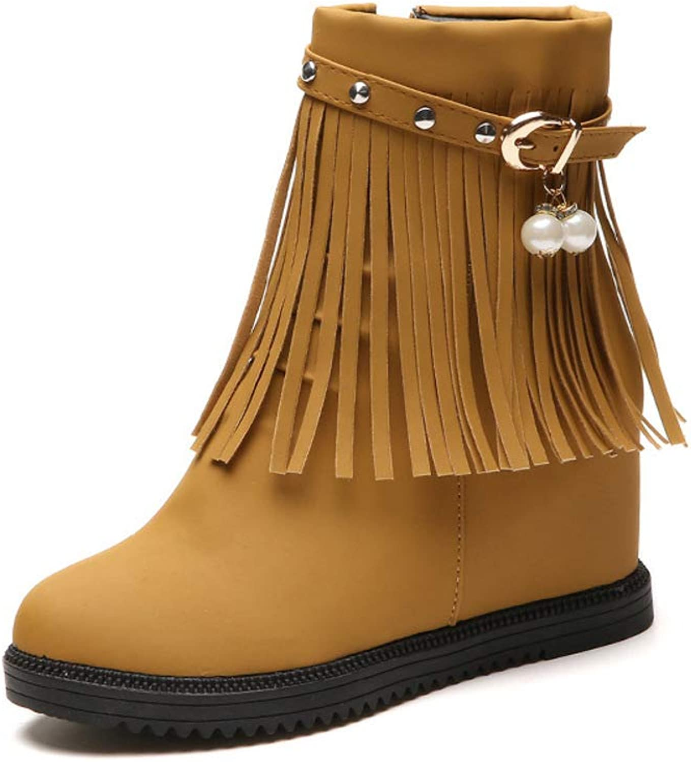 Boots Women's Autumn and Winter Booties Tassels Internal Increase Student