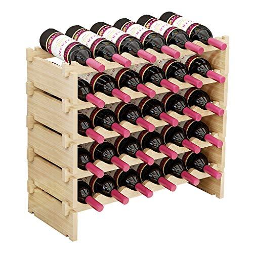 Botellero Armario bodega de almacenamiento de titular soporte del estante de exhibición del vino creativo apilable gabinete del vino de madera del vino en rack estantes del vino de almacenamiento con
