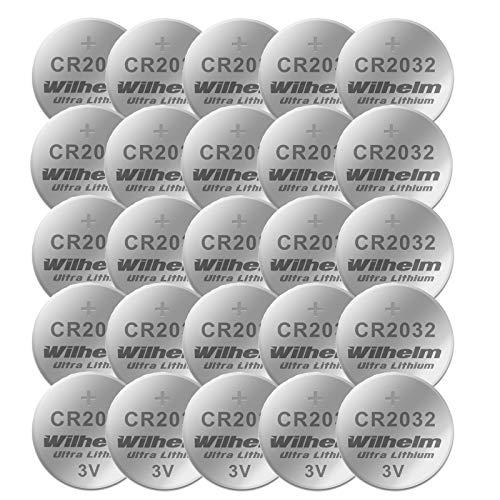 Wilhelm - Pila a bottone al litio, 3 V, CR 2032 CR 2025 CR 2016