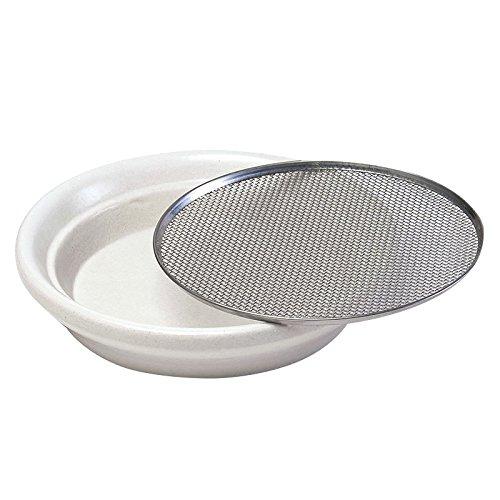 ESCHENFELDER Kressesieb 12cm aus Keramik | Edelstahl | Herstellung in Deutschland | Kresse