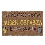 TIENDA EURASIA® Felpudos Entrada Casa Originales y Divertidos - Material : Fibra de Coco con Base Anti-Deslizante de PVC - Medida : 40x70 cm (Cerveza)