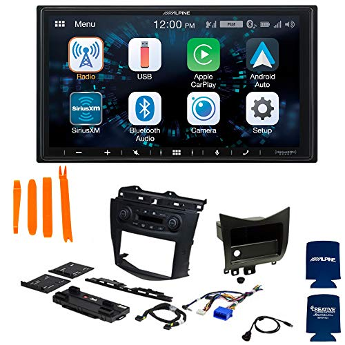 Alpine ILX-W650 7-Inch Mech-Less Receiver with PAC RPK4-HD1101 Compatible with 2003-07 Honda Accord