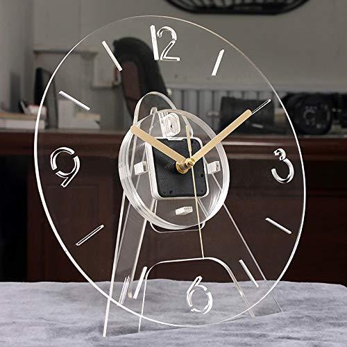 SWNN Relojes de pared Reloj De Pared De Acrílico Transparente Con El Soporte Comedor Cuarto De Televisión Dormitorio Decoración Nórdica Moderna Oficina En Casa Tranquila 30*30*5cm Creativo De La Maner