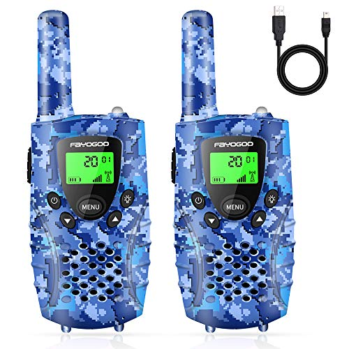 FAYOGOO Walkie Talkies for Kids, 4 Miles Long Range Kids Walkie Talkies, Toys for 3-12 Year Old Boys and Girls, Xmas Birthday Gifts for Children, 22 Channels 2 Way Radio with Flashlight