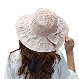 ZUMUii Butterme - Sombrero de Vestir - para Mujer, Beige, Ta