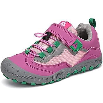 Mishansha Filles Chaussures de Sport de Plein Chaussures de Randonnée Antidérapant Respirantes Chaussures de Trekking Léger, Taffy Rose, 27 EU