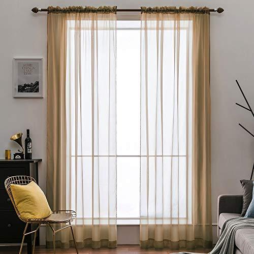 cortinas marrones y beige