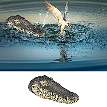 EpochTech Floating Alligator Head Pool Accessories Float Alligator for Koi Pond Decoration and Protection to Scare Heron Away