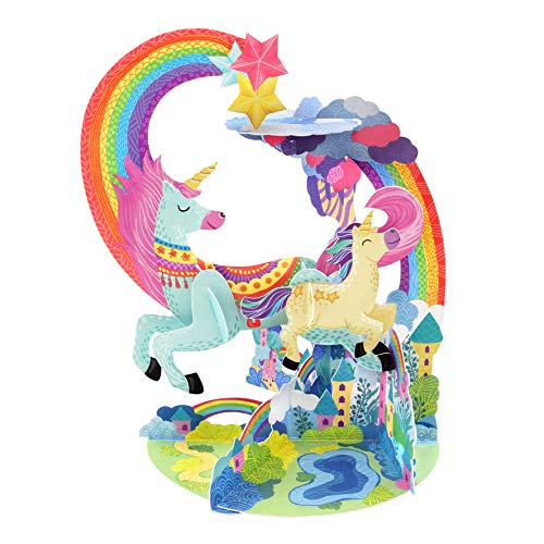 Unicorn Pendulum - Santoro 3D Pop-Up Gretting and Birthday Card for Her and Kids