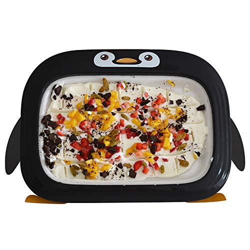 Sommer-Eismaschine, Mini-Frozen-Joghurt-Maschine, nach dem Erweitern und Eindicken können Sie verschiedene Geschmacksrichtungen von Joghurt herstellen, die für Home Entertainment-Schwarz geeignet sind