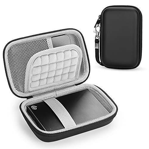Yinke Tasche für Externe Festplatten, kompatibel mit WD Passport Elements/ Toshiba/ Seagate Festplatte, Reisen Tragen Hart Hülle Case (Innen: 15 x 10.5 x 5 cm)